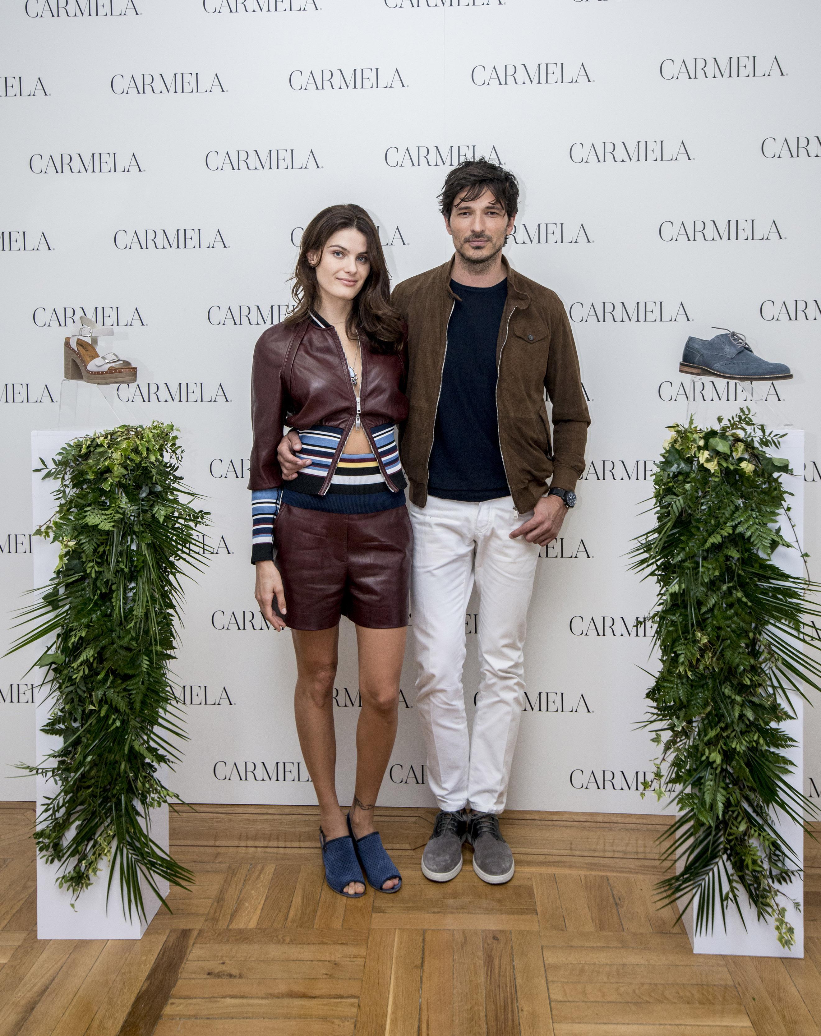 Isabeli Fontana y Andrés Velencoso presentan la campaña de SS18 de la firma de calzado Carmela