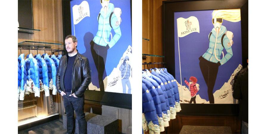 Jordi Labanda colabora en el proyecto Moncler Illustrated de Milán