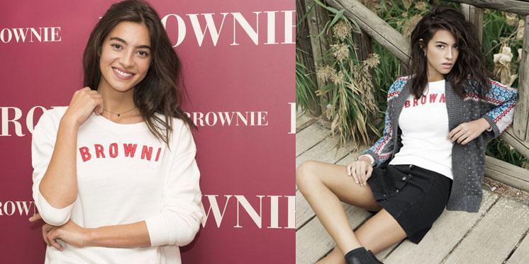Brownie estrena su nueva imagen de campaña, la chica de moda, Rocío Crusser