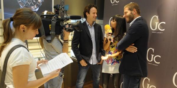 Carlos Moya y Darek inauguran una Boutique GC Barcelona